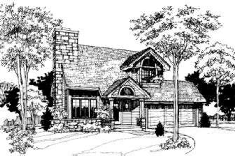 Modern Style House Plan - 3 Beds 2.5 Baths 1556 Sq/Ft Plan #320-101 Exterior - Front Elevation