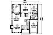Contemporary Style House Plan - 2 Beds 1 Baths 1406 Sq/Ft Plan #25-4315 Floor Plan - Main Floor