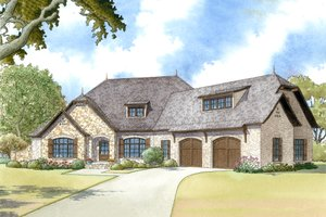 European Exterior - Front Elevation Plan #923-12