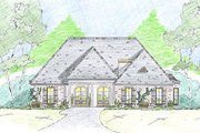 European Style House Plan - 4 Beds 3.5 Baths 2729 Sq/Ft Plan #36-467 Exterior - Front Elevation