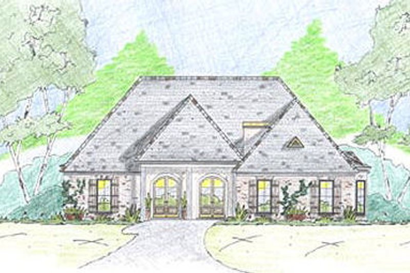 European Exterior - Front Elevation Plan #36-467