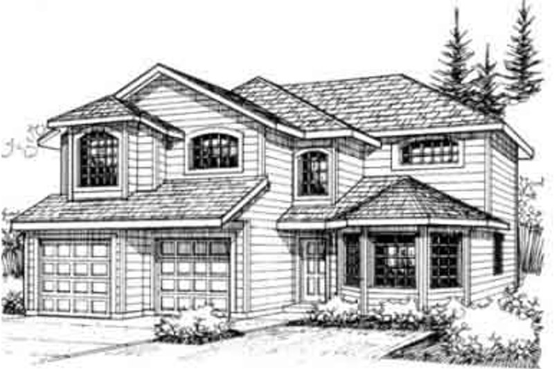 Dream House Plan - Traditional Exterior - Front Elevation Plan #117-193