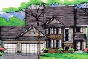 Traditional Exterior - Front Elevation Plan #51-401