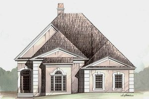 Colonial Exterior - Front Elevation Plan #119-281