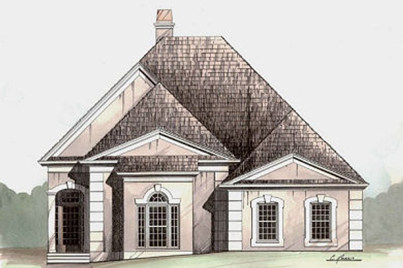 Colonial Style House Plan - 3 Beds 2.5 Baths 2026 Sq/Ft Plan #119-281 Exterior - Front Elevation