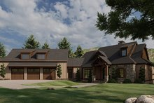 Dream House Plan - Craftsman Exterior - Front Elevation Plan #923-21