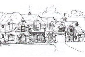 European Exterior - Front Elevation Plan #141-279