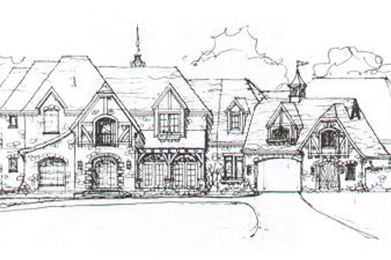 European Style House Plan - 6 Beds 7.5 Baths 9772 Sq/Ft Plan #141-279 Exterior - Front Elevation