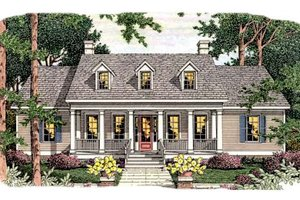 Southern Exterior - Front Elevation Plan #406-244
