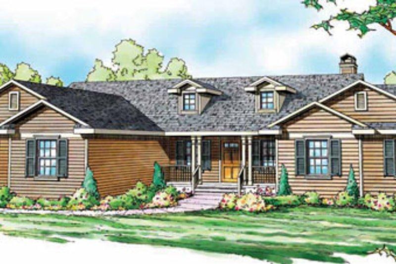 Ranch Exterior - Front Elevation Plan #124-818 - Houseplans.com