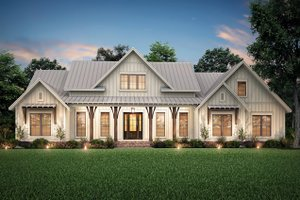 House Blueprint - Farmhouse Exterior - Front Elevation Plan #430-204