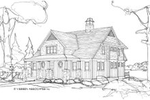 Country Exterior - Front Elevation Plan #928-4