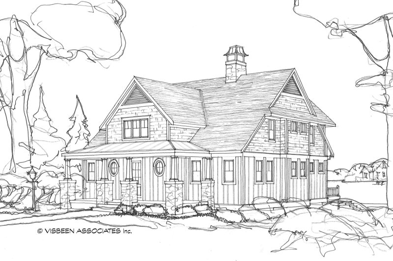 Country Exterior - Front Elevation Plan #928-4 - Houseplans.com