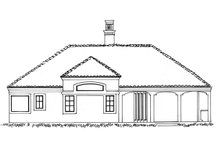 Adobe / Southwestern Exterior - Rear Elevation Plan #942-48