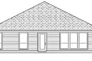 Traditional Style House Plan - 4 Beds 2 Baths 1717 Sq/Ft Plan #84-333 Exterior - Rear Elevation