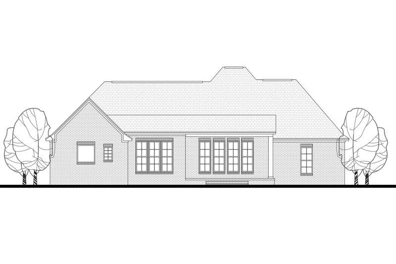 European Exterior - Rear Elevation Plan #430-102 - Houseplans.com