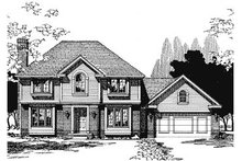 Home Plan - Traditional Exterior - Front Elevation Plan #20-692