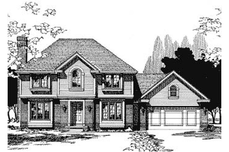 Traditional Exterior - Front Elevation Plan #20-692 - Houseplans.com