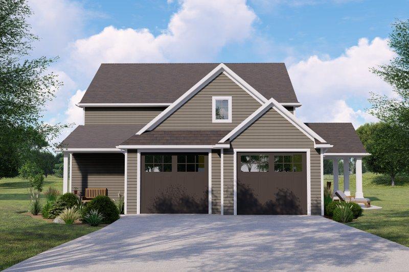 Architectural House Design - Craftsman Exterior - Front Elevation Plan #1064-145