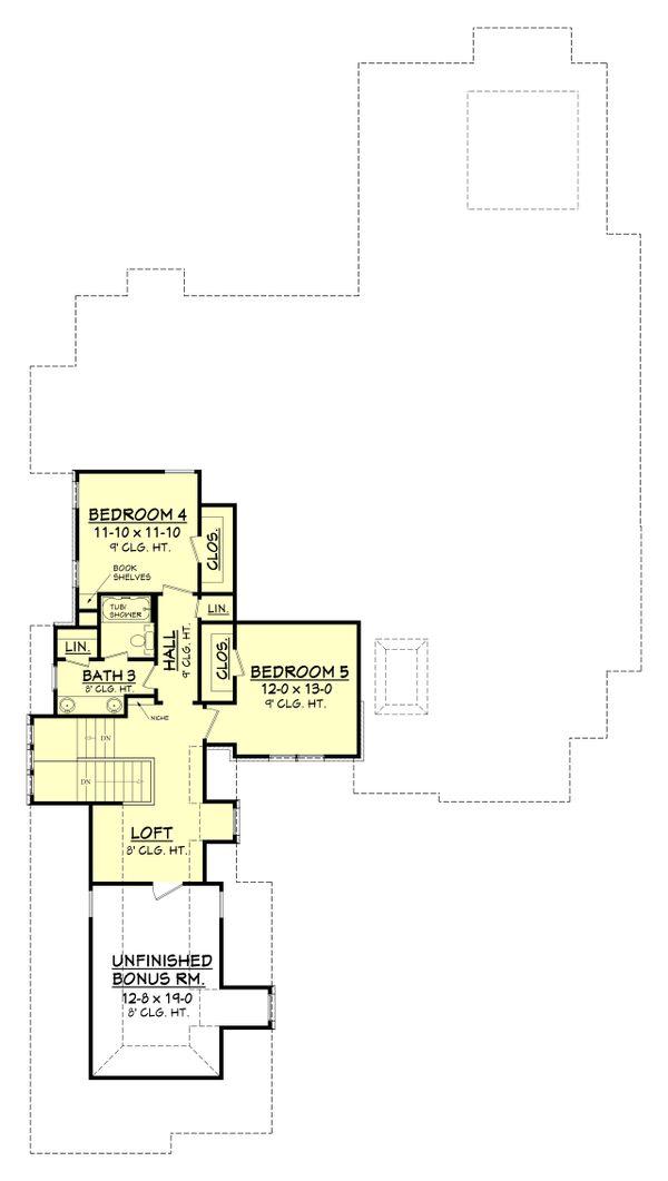 European Floor Plan - Upper Floor Plan Plan #430-109