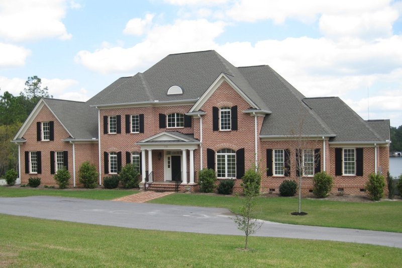 European Style House Plan - 5 Beds 5.5 Baths 4792 Sq/Ft Plan #1054-76 Exterior - Front Elevation