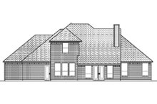 Home Plan - Traditional Exterior - Rear Elevation Plan #84-372