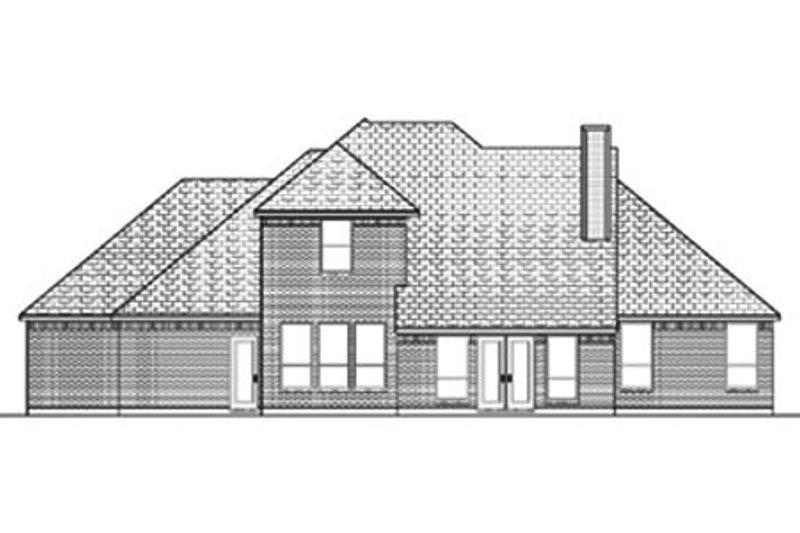 Traditional Exterior - Rear Elevation Plan #84-372 - Houseplans.com