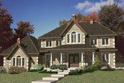 European Style House Plan - 4 Beds 2.5 Baths 2679 Sq/Ft Plan #138-338 Exterior - Front Elevation
