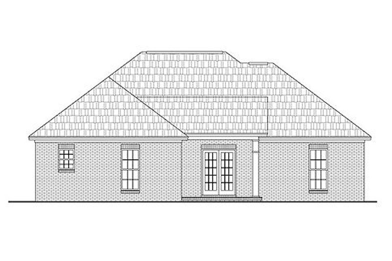 Country Exterior - Rear Elevation Plan #430-20 - Houseplans.com