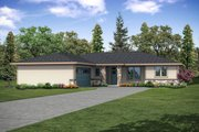Ranch Style House Plan - 3 Beds 2.5 Baths 2257 Sq/Ft Plan #124-1146 Exterior - Front Elevation