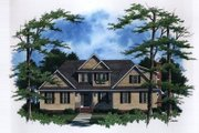 Traditional Style House Plan - 3 Beds 2.5 Baths 2580 Sq/Ft Plan #41-161 Exterior - Front Elevation