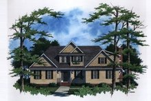 Home Plan Design - Traditional Exterior - Front Elevation Plan #41-161