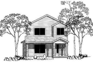 Traditional Exterior - Front Elevation Plan #303-347