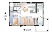 Contemporary Style House Plan - 2 Beds 2 Baths 924 Sq/Ft Plan #23-2297 Floor Plan - Main Floor Plan