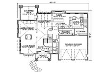 Craftsman Floor Plan - Main Floor Plan Plan #5-378