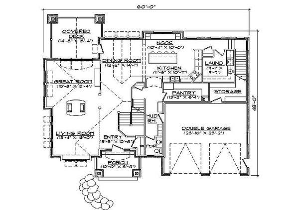 Home Plan - Craftsman Floor Plan - Main Floor Plan #5-378