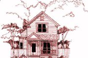 Cottage Style House Plan - 3 Beds 2 Baths 1279 Sq/Ft Plan #79-152 Exterior - Front Elevation