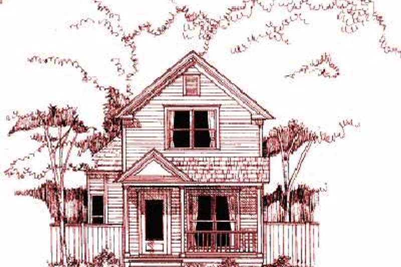 Cottage Exterior - Front Elevation Plan #79-152