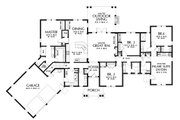 Craftsman Style House Plan - 4 Beds 3.5 Baths 2801 Sq/Ft Plan #48-945 Floor Plan - Main Floor Plan
