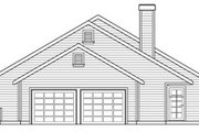 Ranch Style House Plan - 3 Beds 2 Baths 1951 Sq/Ft Plan #124-273 Exterior - Other Elevation