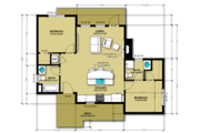 Cabin Style House Plan - 2 Beds 2 Baths 813 Sq/Ft Plan #504-7 Floor Plan - Main Floor Plan