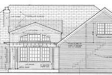 Southern Exterior - Rear Elevation Plan #406-119