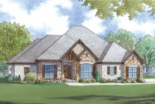 European Exterior - Front Elevation Plan #923-76