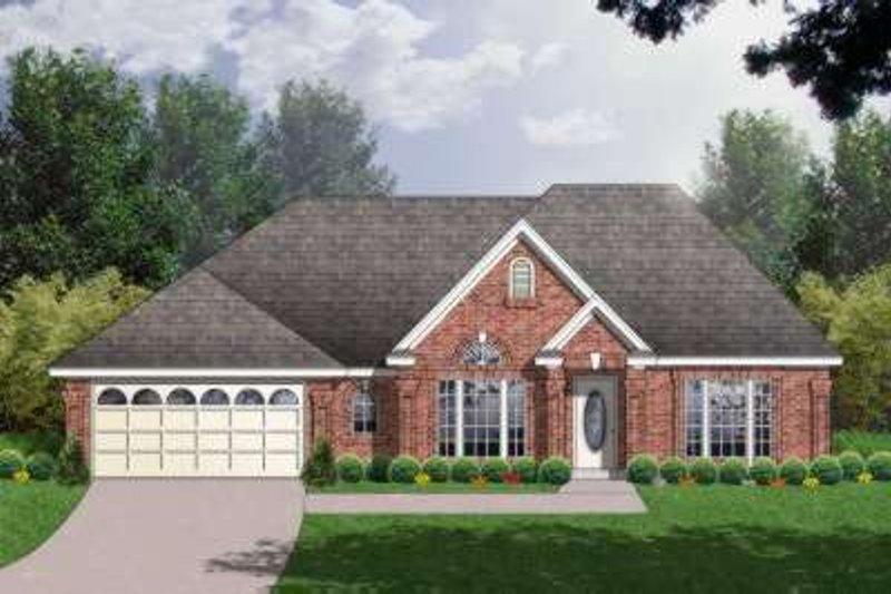 Traditional Exterior - Front Elevation Plan #40-168