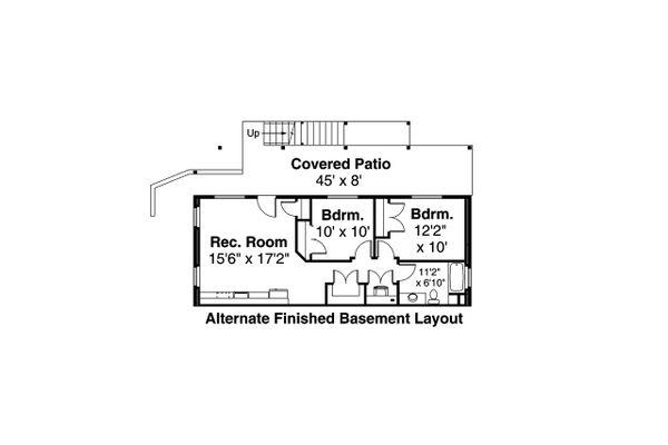 Home Plan - Craftsman Floor Plan - Lower Floor Plan #124-1201