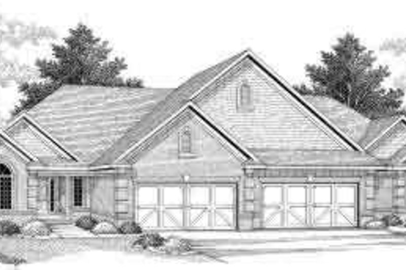 Traditional Exterior - Front Elevation Plan #70-749 - Houseplans.com