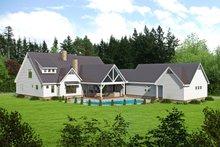 House Plan Design - Traditional Exterior - Rear Elevation Plan #932-212