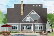 Craftsman Style House Plan - 5 Beds 4.5 Baths 3170 Sq/Ft Plan #929-1061 Exterior - Rear Elevation