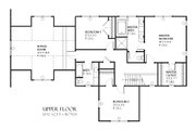 Craftsman Style House Plan - 3 Beds 2.5 Baths 2122 Sq/Ft Plan #901-74 Floor Plan - Upper Floor Plan