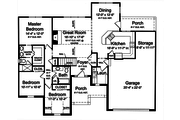 Traditional Style House Plan - 3 Beds 2 Baths 1597 Sq/Ft Plan #46-469 Floor Plan - Main Floor